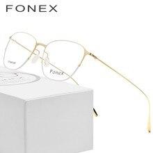 f4aeefb6ceacb Óculos de titânio Quadro Homens Ultraleve Praça 2018 Nova Alta Qualidade  Mulheres Prescrição Miopia Óptico Armação de Óculos