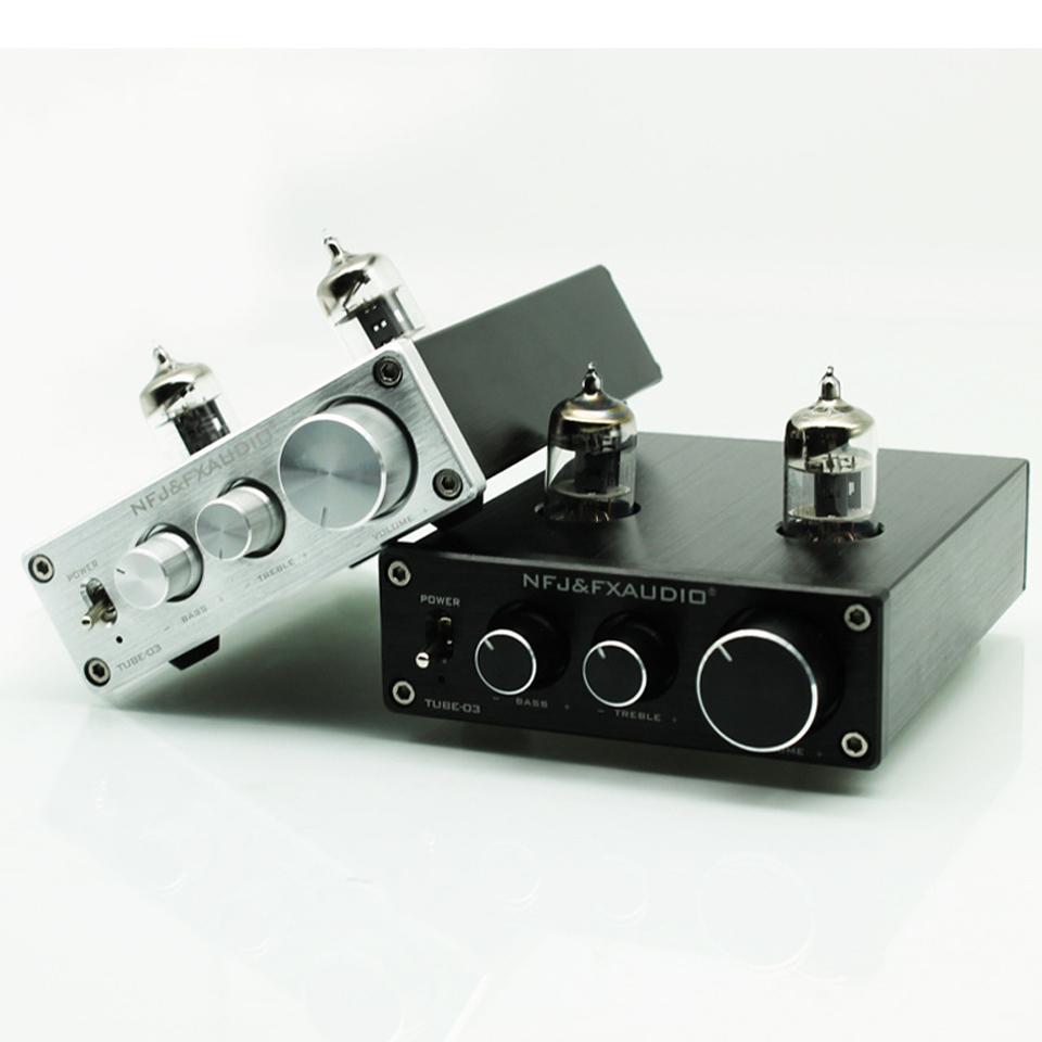 2017 FX-Audio New TUBE-03 Mini Audio Tube Pre-amps DAC Audio With Bass/Treble Adjustable DC12V/1.5A Power Supply