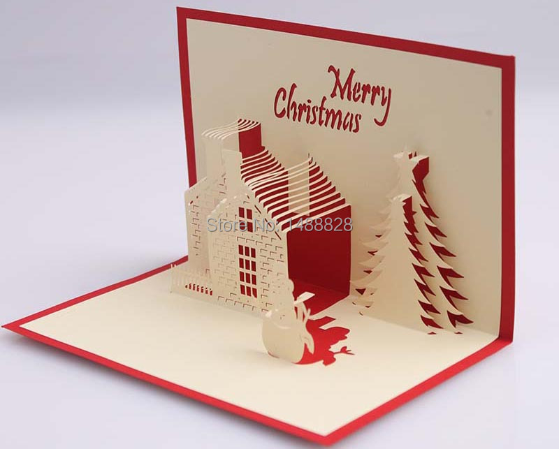Aliexpress Buy 3D Paper Christmas house card Valentine – 3d Valentine Cards