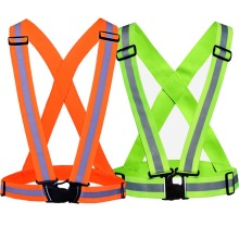 JINGLESZCN Reflective High Safety Vest green / orange Strips for Construction Traffic & Warehouse Jacket Security Visibility