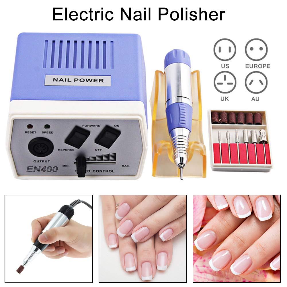 все цены на Professional Electric Nail Art Machine Kit Nail Art 30000 RPM File Drills Bits Tool Set for Manicure Pedicure Nail Drill Machine онлайн