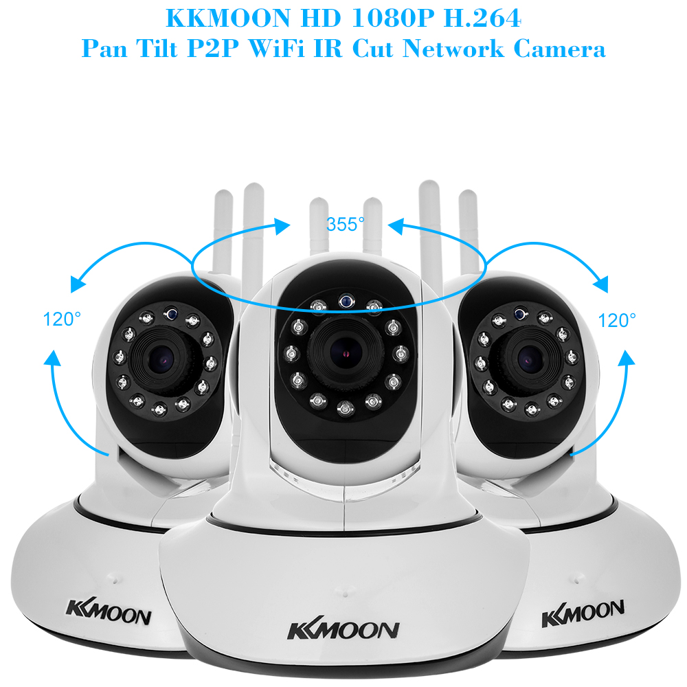 Image 3 - KKmoon IP Camera 1080P HD Wireless Wifi Camera 2MP Network Surveillance Camera Night Version Two way Audio P2P Home CCTV Camera-in Surveillance Cameras from Security & Protection