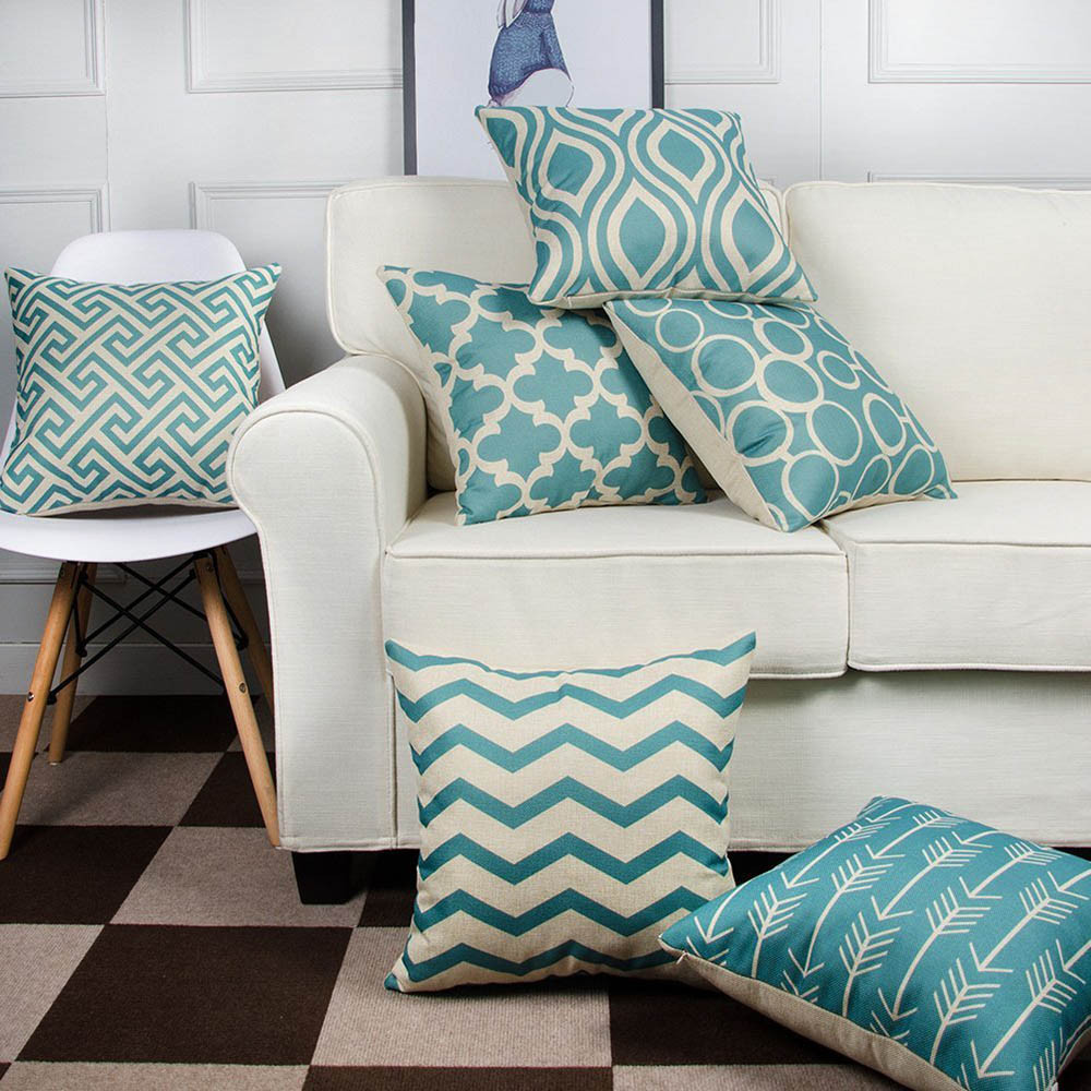 2019 Living Room Pillow Geometric Pattern Pillow Cotton