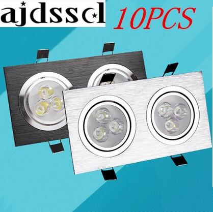 10 adet Downlight 12w 20W 28W kare çift led tavan kısılabilir epistar led lamba tavan lambası gömme Spot ışık Downlight 110 V-220 V