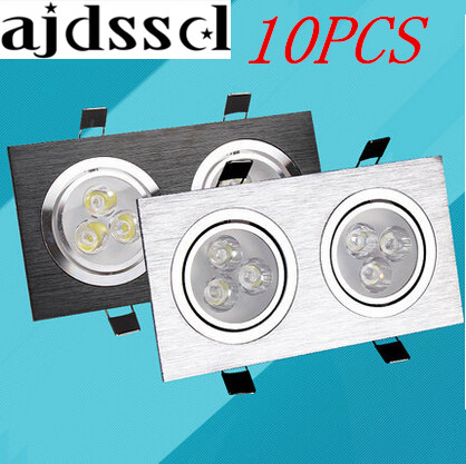 10PCS Downlight 12w 20W 28W Square double ledCeiling dimmable Epistar LED ceiling lamp Recessed Spot light