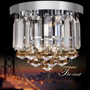 Image 3 - Crystal ceiling Lights Champagne OR Clear Stainless Steel Round Crystal ceiling Lights Design for the Hotel Lobby bar cafe shop