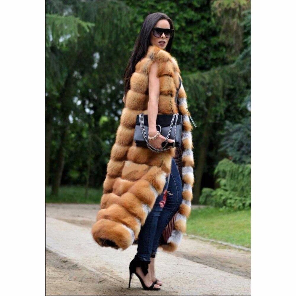 Veste Picture Manteau Rouge As Réel De Fox Survêtement Furry Mince longue Pour Pardessus Mode Taille Fourrure X Renard Plus Luxe Naturel Gilet Femmes D'hiver BIgRnwqY