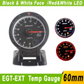60mm Egt Gauge Exhaust Gas Temperature Gauge With Sensor Racing Car Defi CR White & Red LED Auto Gauge YC100123