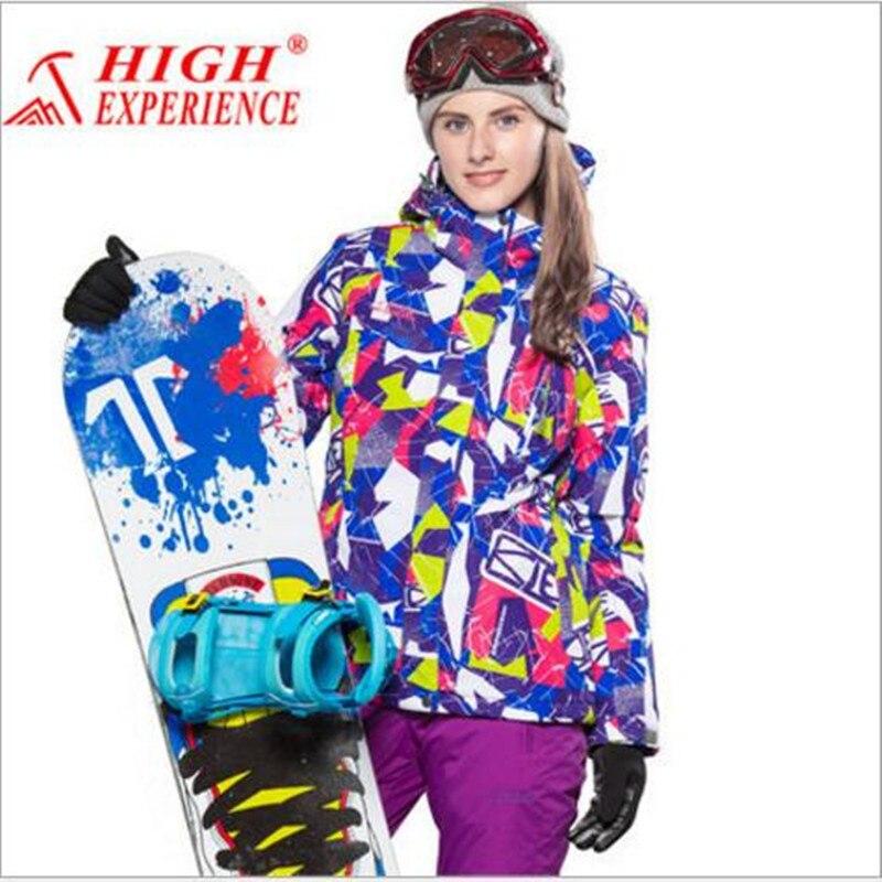 Prix pour 2017 Femmes Haute Expérience de Ski Veste Imperméable Coupe-Vent Super Chaud Manteau Sport En Plein Air Ski Snowboard Vêtements Femme Porter