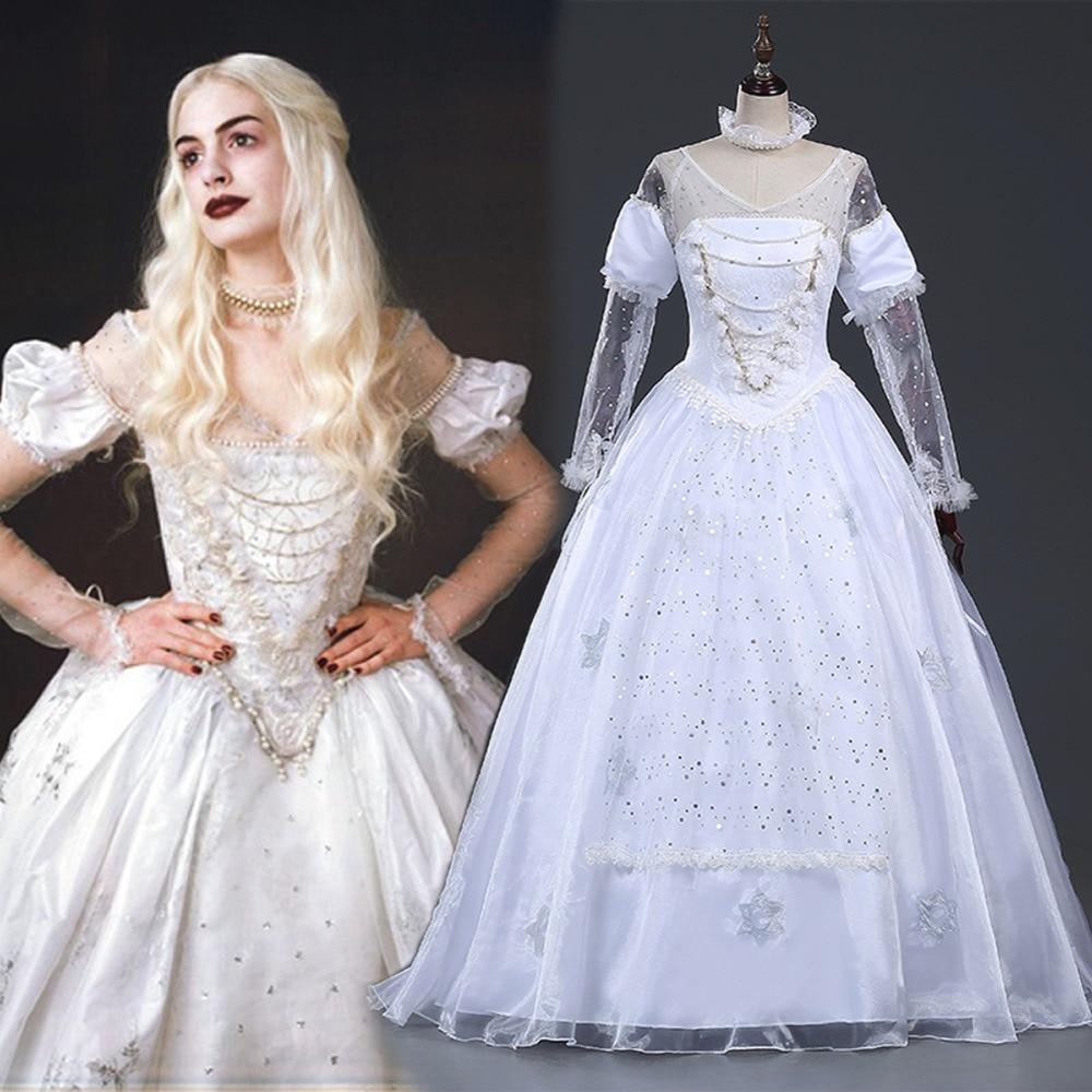 The White Queen Alice In Wonderland Dress