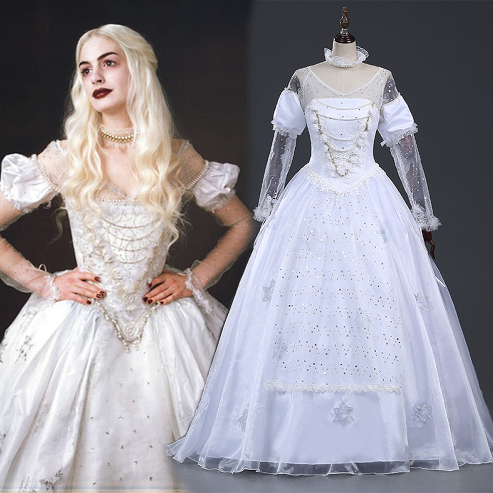 ワンダーランドコスプレ衣装は白クイーンmirana衣装大人ハロウィン衣装mirana白いドレス  グループ上の ノベルティ & 特殊用途 からの 映画 & テレビ衣装 の中 1