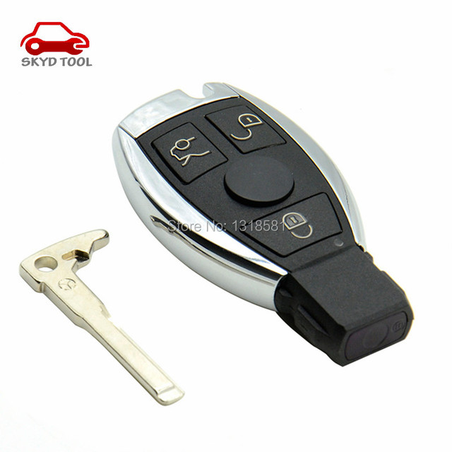 2016 New 3 Buttons Smart Remote Key for Mer cedes Be nz with NEC Chip 315/433MHz Optional Supports Car Models After Year 2000