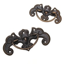 MTGATHER Door Knob Vintage Furniture Cupboard Closet Cabinet Door Knobs Drawer Dark Bronze Pull Handle S/L Size Zinc Alloy