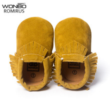 Baby Shoes Yellow-Color Moccasins Girls Flock Tassel New-Styles