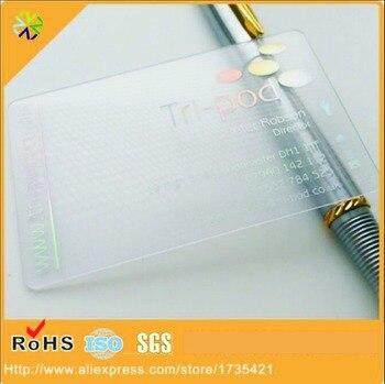 (500pcs/lot)2017 hot sale pvc material transparent plastic business card