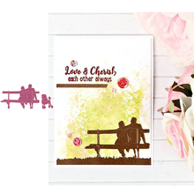 Couples Lovers Metal Cutting Dies for Scrapbooking and Cards Making Paper Craft New 2019