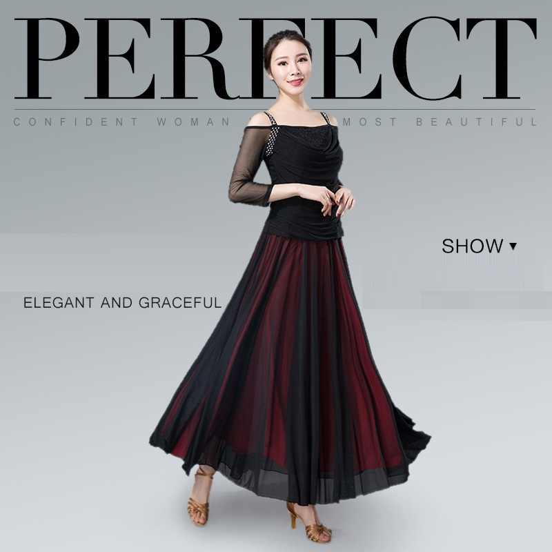 3e0ebc4c4 ... Women's Modern Dance Skirt Half - Body Long Dress Waltz Dance Practice Wear  Ballroom Dance Dress