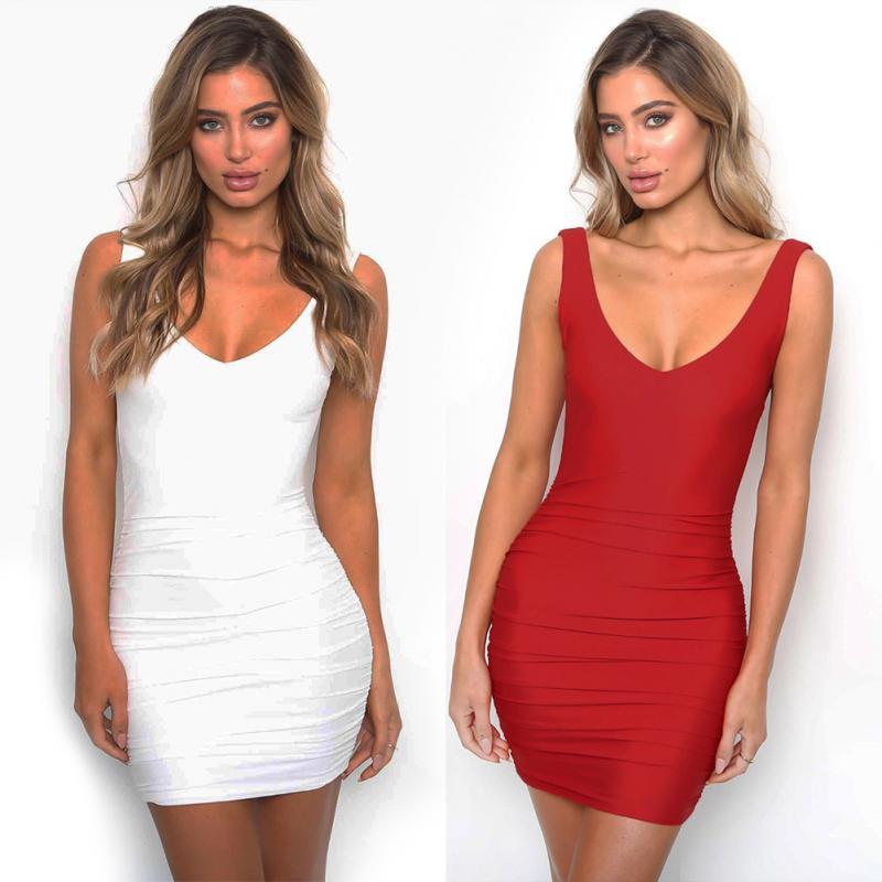 f8e5f0a8ef4561 Großhandel Sexy Spaghetti Trägern Bodycon Red Party Kleid Open Back ...
