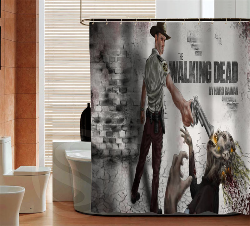 Fashion The Walking Dead Quality Custom Shower Curtain Bathroom Decor Various Sizes Free Shipping More Size Sq0427 Zhh In Curtains From Home Garden