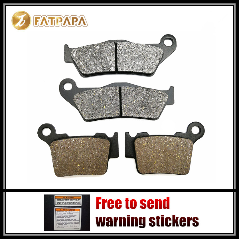 New Arrivals Motorcycle Accessories F + R Brake Pads Set Fit For <font><b>KTM</b></font> <font><b>350</b></font> EXC-F EXC-F350 <font><b>2011</b></font> 2012 2013 2014 image