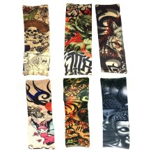 4Pcs Mixed Nylon Elastic Fake Temporary Tattoo Sleeve Sex Product Body Arm Stockings Tatoo For Cool Men Women