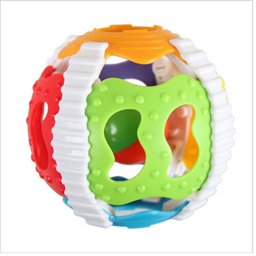 Baby Rattles Toy  Colorful  Baby Soft Hand Catcher Rattle Baby Hollow Grasping Ball Sound Baby Rattle Infant Ball For 0-3years