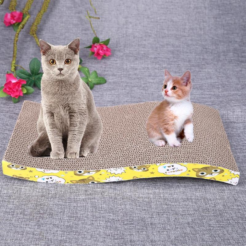 Cat Scratching Corrugated Board Pet Cat Scratch Bed Scratching Board Durable Double-sided Pet Cat Kitten Scratch Seize Mat ...