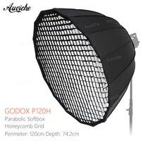 Godox P120H 120 CM Metall Stahlstange Tiefe Parabolischen Wabengitter Softbox Bowens Berg Studio Flash Reflektor Foto-studio Softbox