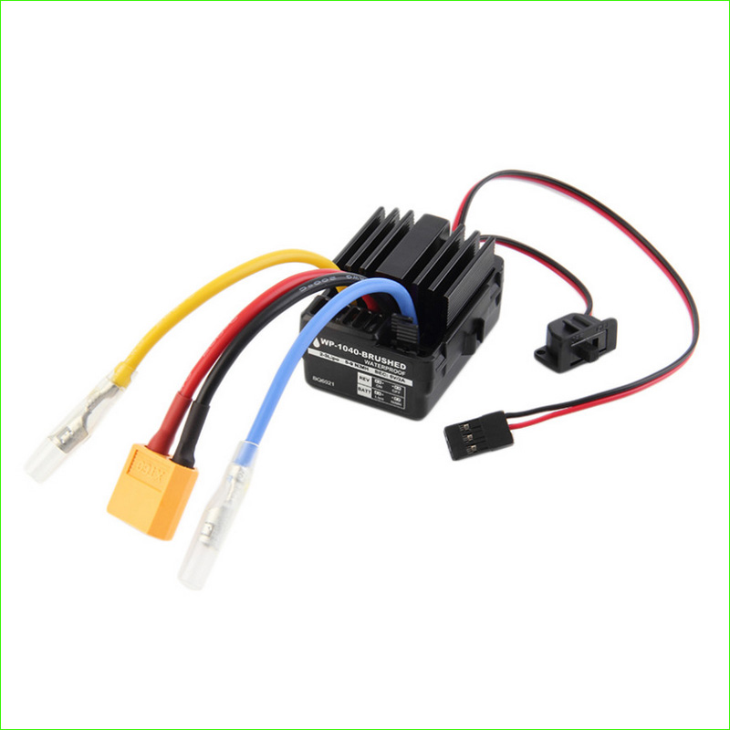 Wholesale WP 1040 60A Waterproof Brushed ESC Controller for Rc Car Motor brand new wp 1040 60a brushed esc controller waterproof for hobbywing quicrun rc car motor