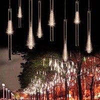 Impermeable LED lámpara smd2835 Navidad meteoros lluvia lámpara 50 cm 10 nieve del tubo color blanco cálido jardín decorativo al aire libre lámpara