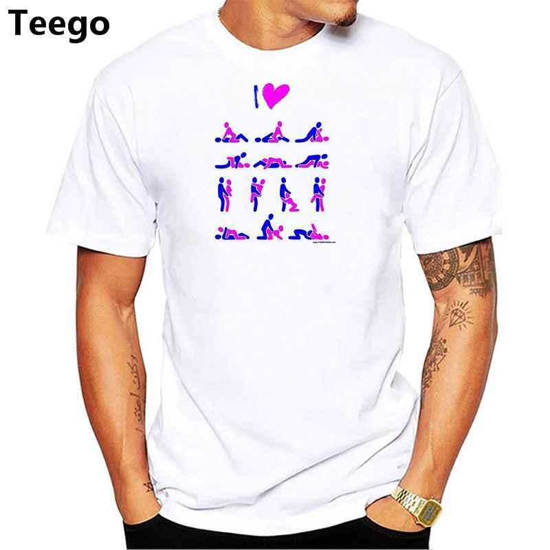 3c022e0c0 Novelty Design Kamasutra T-shirt Men Cotton Casual O-neck T Shirt Funny  Print