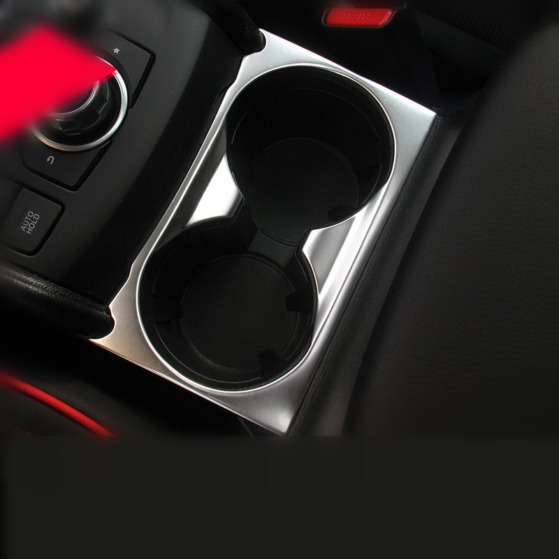 Stainless Steel Cup Holder Cover for <font><b>Mazda</b></font> <font><b>CX</b></font>-<font><b>5</b></font> CX5 2017 <font><b>2018</b></font> Multimedia Knob <font><b>Interior</b></font> Trim <font><b>Accessories</b></font> Overlay image