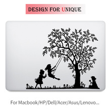 Happy Swing Children Laptop Sticker for Apple Macbook Decal Pro Air Retina 11 12 13 15 inch Vinyl Mac HP Mi Surface Book Skin