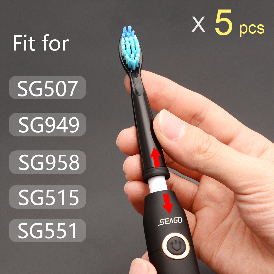 Seago Electric Toothbrush Replacement Heads Original Electric Toothbrush Heads Fit For SG507 SG949 SG958 SG515 SG551