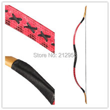 Longbowmaker Handmade Traditional Longbow Red Snakeskin Hungarian Archery Recurve Bow 20-60LBS H1HS
