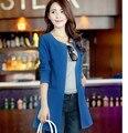 Moda 4 colores S-XXL primavera otoño 2016 nueva moda Trench Coat para mujeres capa larga de la rebeca para para A405