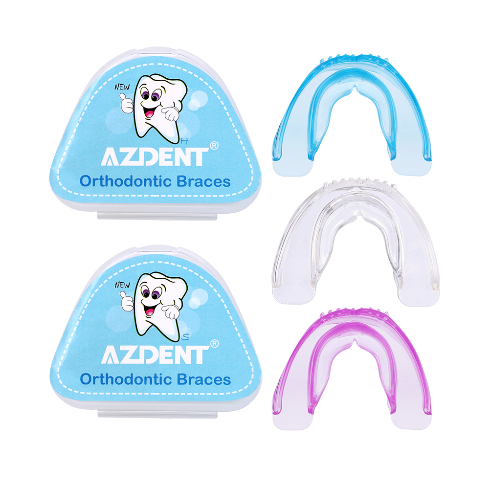 AZDENT New Silicone Tooth Tray Dental Orthodontic Braces Soft Hard Appliance Teeth Alignment Trainer Teeth Retainer Mouth Guard