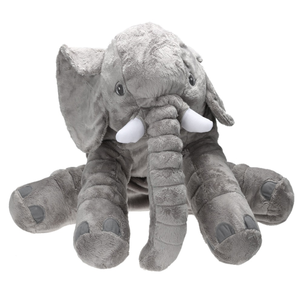 65cm Large Plush Elephant Doll Toy Baby Kids Sleeping Back Cushion Elephant Doll Baby Doll Birthday Gift Christmas Holiday Gift super cute plush toy dog doll as a christmas gift for children s home decoration 20
