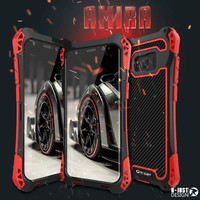 R JUST Classic Luxury Metal Armor Outdoor Shockproof Aluminum Case For Samsung Galaxy S8 S8 Plus