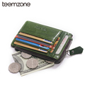 Free Shipping Unisex  Women Genuine Leather Purse Clutch Wallet Simple Card Holder Bag ID Credit Card Coin Holder Multicolor