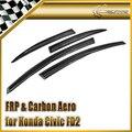 Estilo de coche para honda civic 2006 4 puerta fd2r carbon fiber deflector de viento en la acción