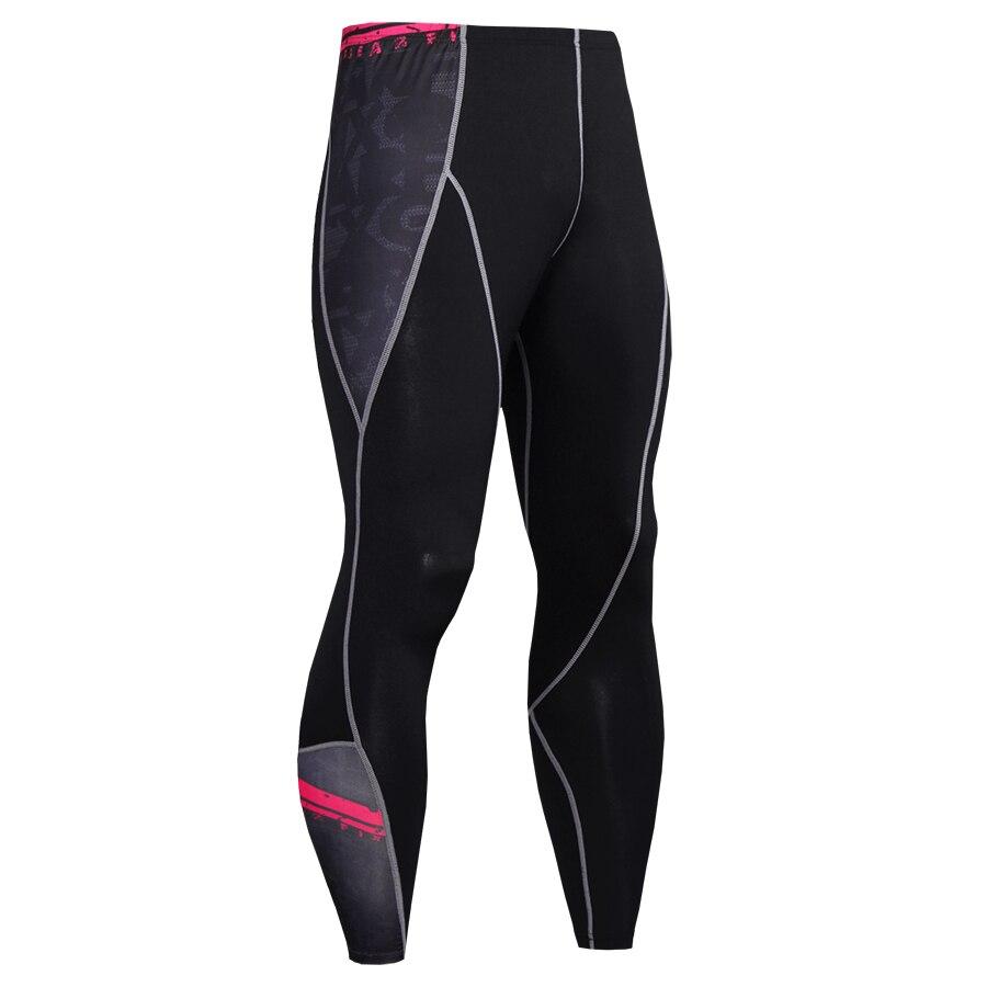 2017 Hot Sale Compression Pants Men Fashion Joggers Soft Leggings Elastic Bodybuilding Fitness Crossfit Men Trousers 3D Pants