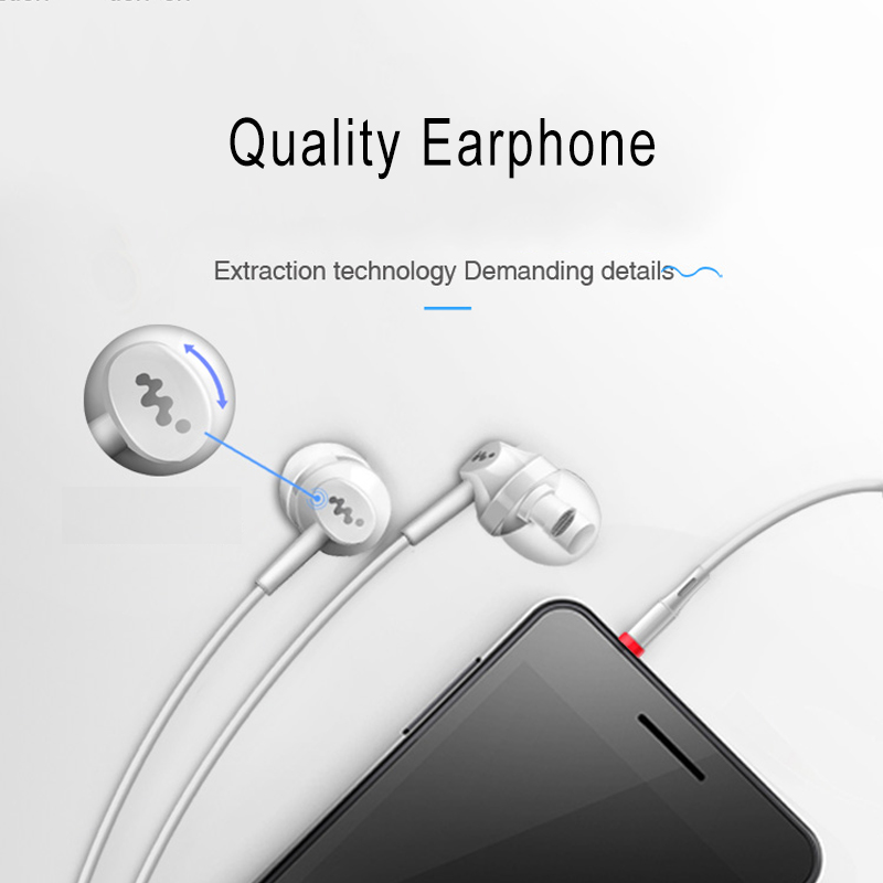 Heavy Bass In Ear Earphone Music Headset with Mic Quality Earbud fone de ouvido for iPhone Samsung Sony HTC Mp3 PC