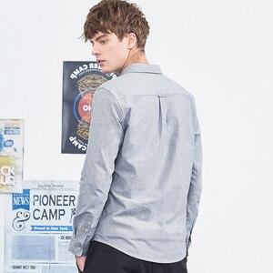 Image 4 - パイオニアキャンプ新長袖服シンプルな固体シャツ男性ソフト綿 100% メンズ ACC801460