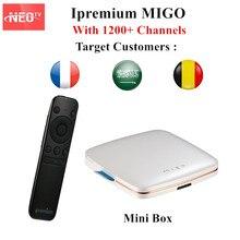 Ipremium MIGO IPTV Box Android 5.1 1G8G With 1 Year Free French Arabic Belgium IPTV Subscription Mini Smart TV BOX Portable Box
