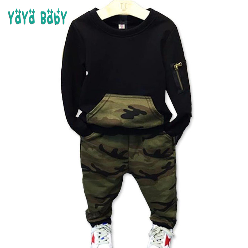 2 3 4 5 6 7 Year Boys Sport Suits 2018 New Cotton Casual Kids Clothes for Boy Camouflage Shirts Pants Children Clothing Set рубашка мужская mexx цвет темно синий темно серый mx3000751 mn shg 011 размер m 50
