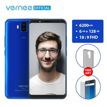 Vernee X 6GB RAM 128GB ROM Smartphone Face ID Android 7.1 Octa Core 6.0 inch 18:9 FHD 2160x1080P Four Cameras 6200mAh Phone