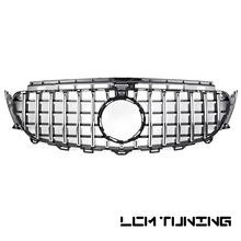 For Mercedes Benz E-class W213 E200 E300 E320 2016-on with Emblem GT Style Black Camera Hole Front Bumper Racing Grille