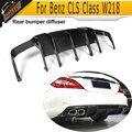 Для W218 карбоновое волокно авто задний бампер диффузор спойлер для Mercedes Benz W218 CLS350 CLS63 AMG 2012-2017