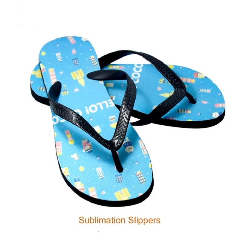 cff0f332331b0d Cheap customized sandals beach sport slippers blank sublimation flip flops  For Adults Without Picture on it 8pcs-in Embossers from Home   Garden on ...
